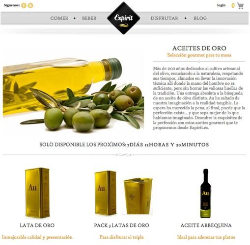Aceites de venta en Expirit.es