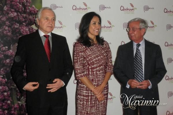 Nadine Heredia,Francisco Eguiguren y Rafael Anson