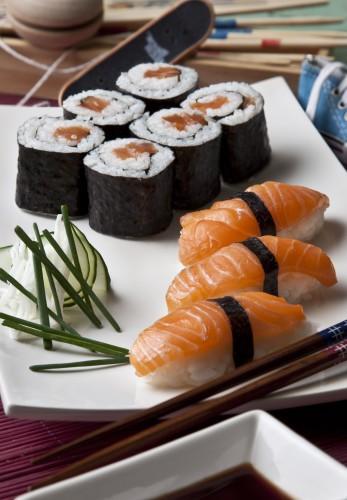 Sushi de Salmón Noruego fresco