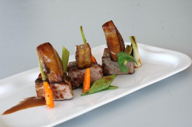 Escalopes de Foie Gras con Salsa de Zanahoria