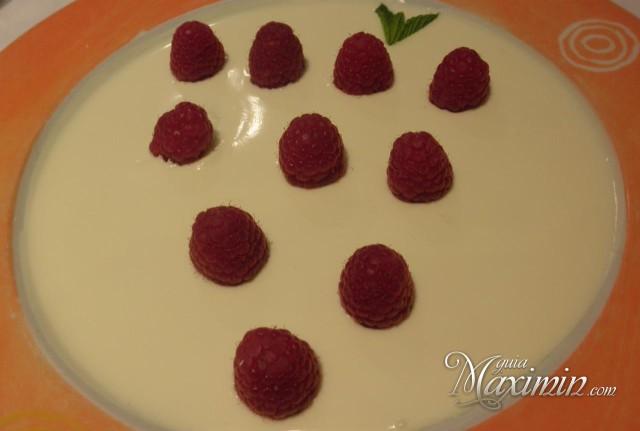 frambuesas con chocolate blanco