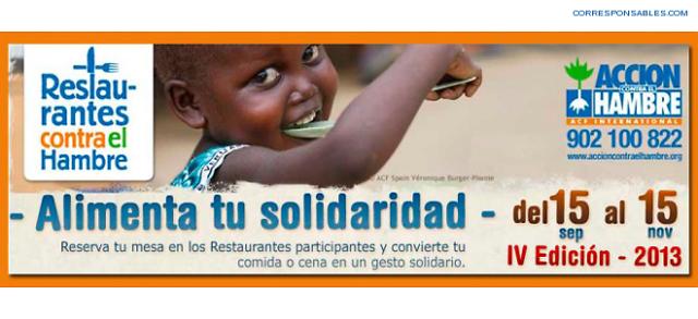 Restaurantes contra el hambre 2013