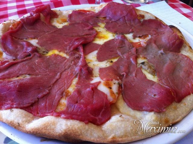 pizza carpaccio de ternera