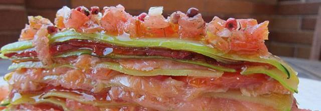 milhojas de salmon