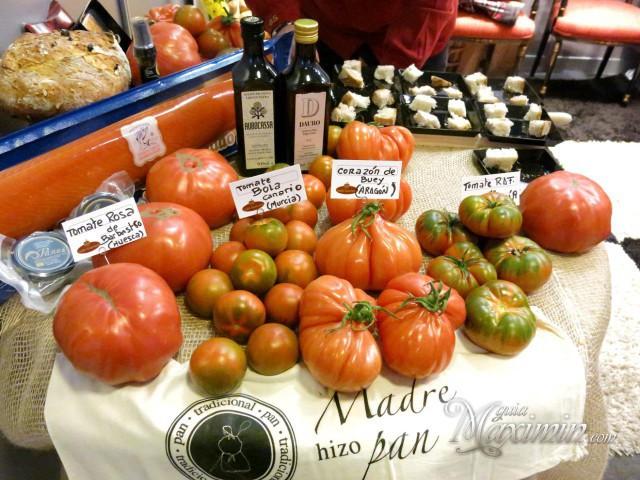 Combinaciones tomates y pan