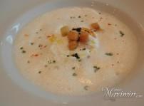 crema de tupinambo, huevo poché, parmesano y trufa