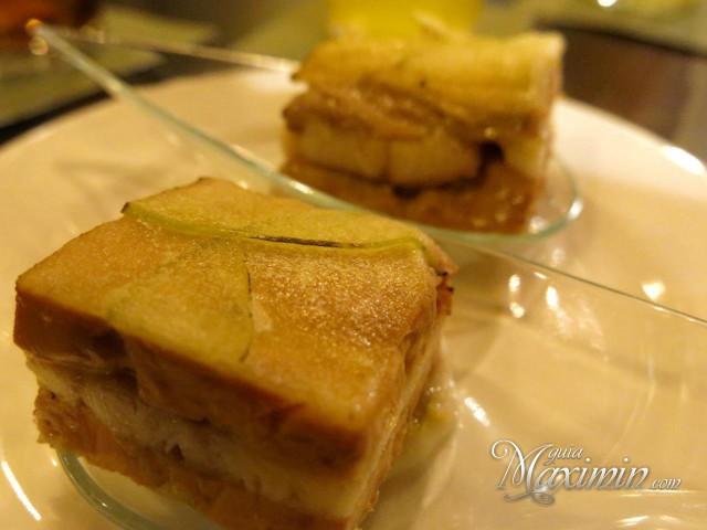 milhojas de manzana, anguila ahumada y foie de Hoteles Silken
