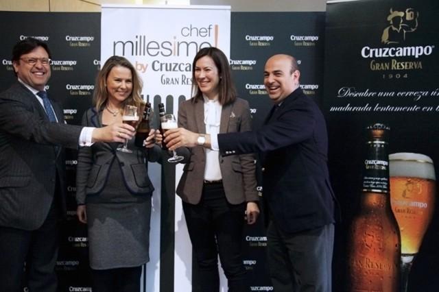 Inés Arnal Cruzcampo, Sandra Reig Millesime, Pedro Sánchez Cuerda Patronal de Hostelería Sevilla y Antonio Castaño Consorcio Turismo Sevilla.