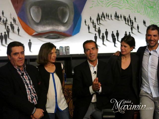 Manuel Martínez, Verónica Zabala, Salvador Victoria, Srta. Catalán y Paco Roncero,