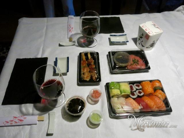 cena con go sushing
