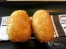 croquetas cremosas de ibérico fritas en pan japonés
