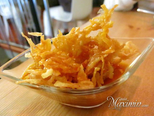 tortilla de patata frita en tempura