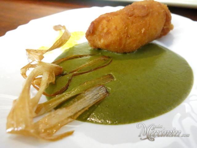 Croqueta de sopa castellana-Arco de Goya-Chinchon