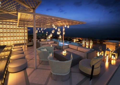 Terraza Vi Cool Hotel Aguas de Ibiza Piscina VIP Barra mb