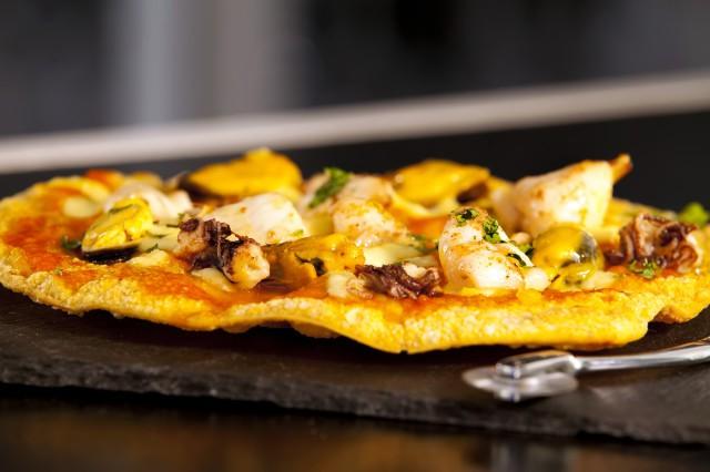 PIZZA CROCANTE DE FRUTOS DEL MAR
