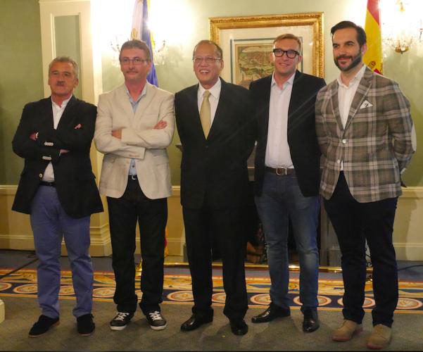 Paco Torreblanco, Andoni Luis Aduriz, Presidente de Filipinas Beningno, Jose¦ü Luis Gonza¦ülez y Mario Sandoval