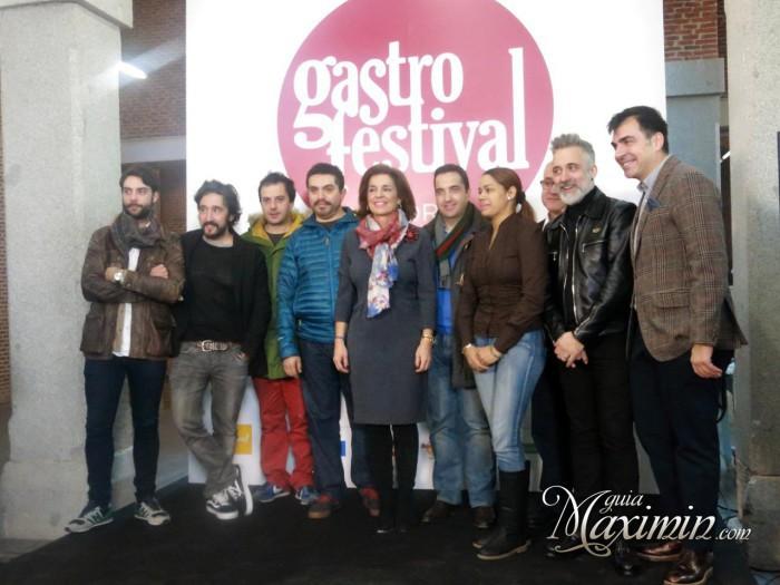 Ana Botella con los estrellas Michelín asistentes