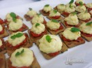 Brandada de bacalao sobre cookie de oliva-Los Arcos de Ponzano
