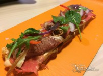 coca de roast beef de ternera