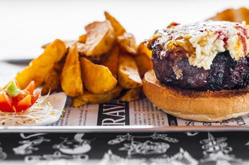 Goat cheese kobe burger Pecado Carnal Majadahonda