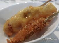 brocheta de pescadilla y salmonete
