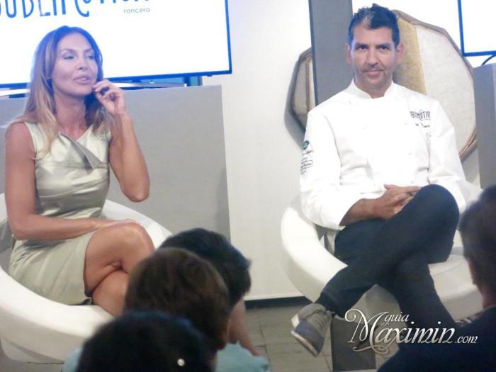 Mapi y Paco Roncero en la presentación