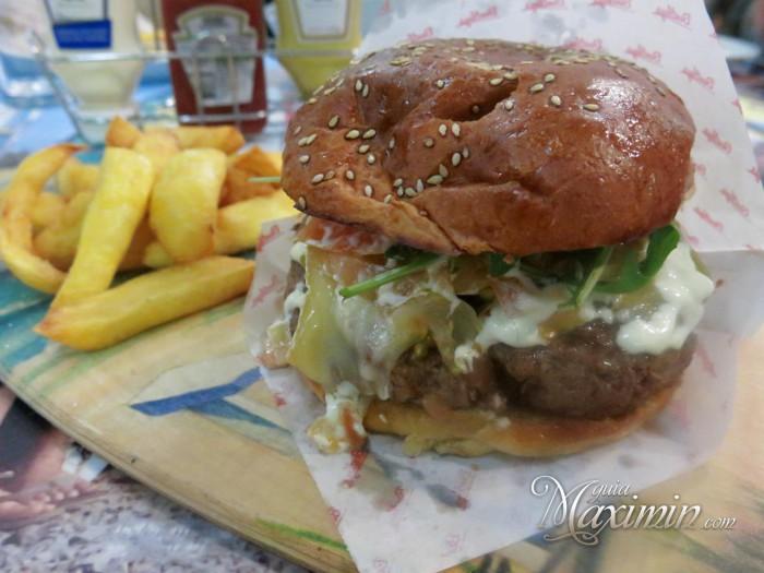 hamburguesa tres quesos