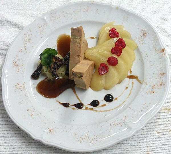 terrina de foie-gras de pato con manzana