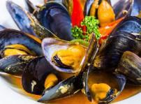 Mejillones al curry picante-Café Óliver