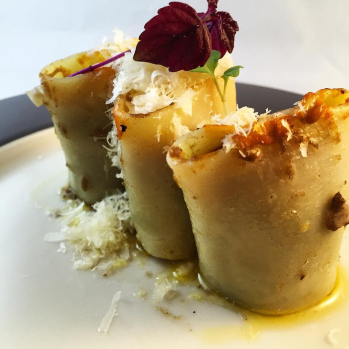 Pasta rellena de Perdiz y Boletus[1]