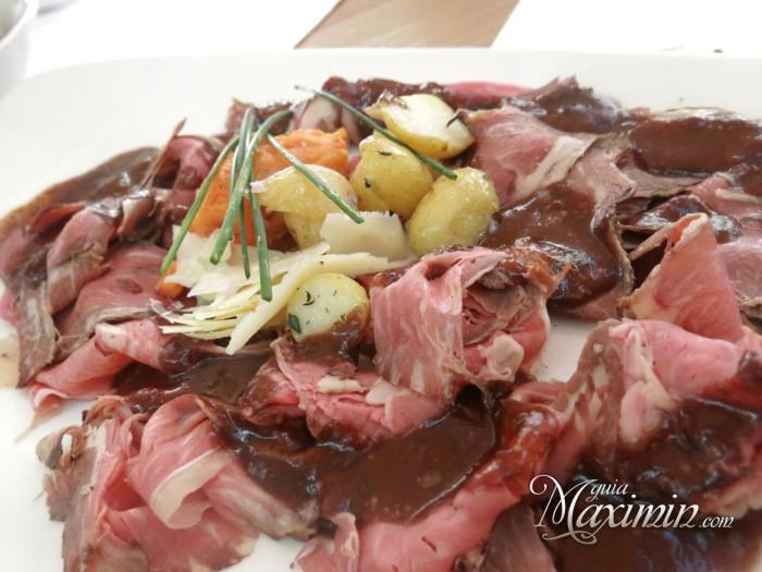 Roast beef de lomo de cebón con puré