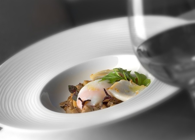 Espacio 33 - Salteado de setas otoñales con huevo trufado y jamón ibérico