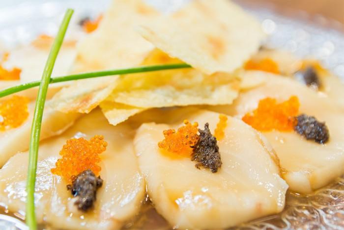 Usuzukuri de pez mantequilla y trufa negra 2 (Copiar)