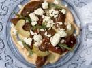 Oricios, aceituna y queso fresco de cabra_Casa Gerardo