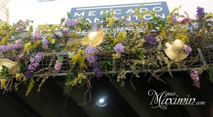 Alegoría del verano en el Mercado de San Antón (Madrid)