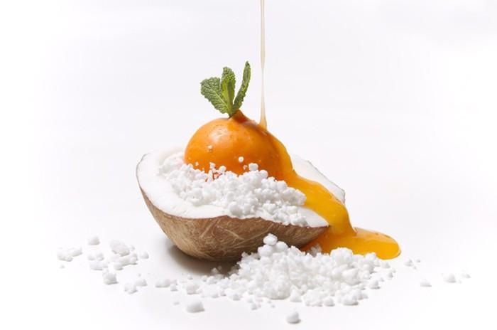 Falsa mandarina y coco helado_2_Clandestino gastrobar
