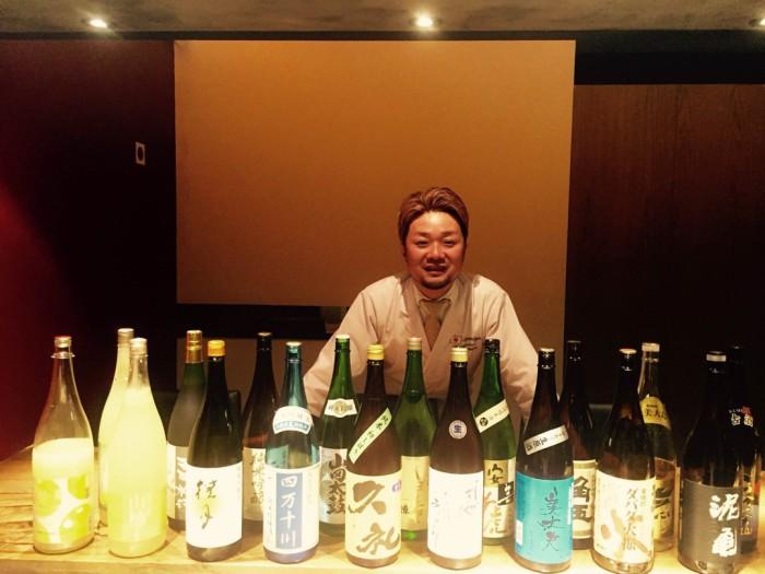 Sr. Masahito y sakes y shochus
