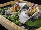 Ostra en tempura con soja fermentada y perlas de yuzú_Quince Nudos