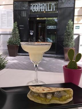 p-Happy Aniversario Comala, Margarita y taco de arenques, 10 €