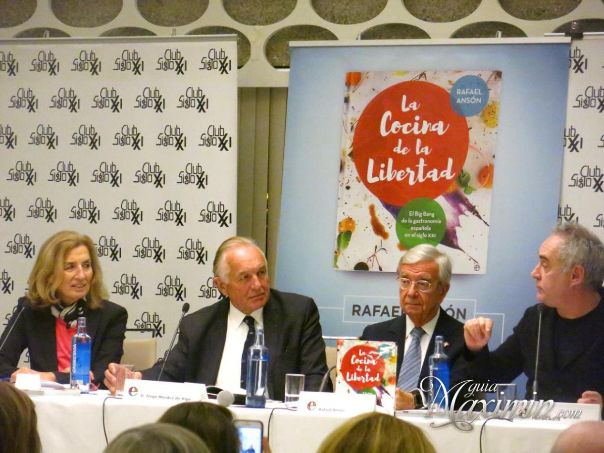 Presentación del libro Cocina de la Libertad de Rafael Ansón