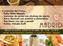 Cartel Curso de Cocina India