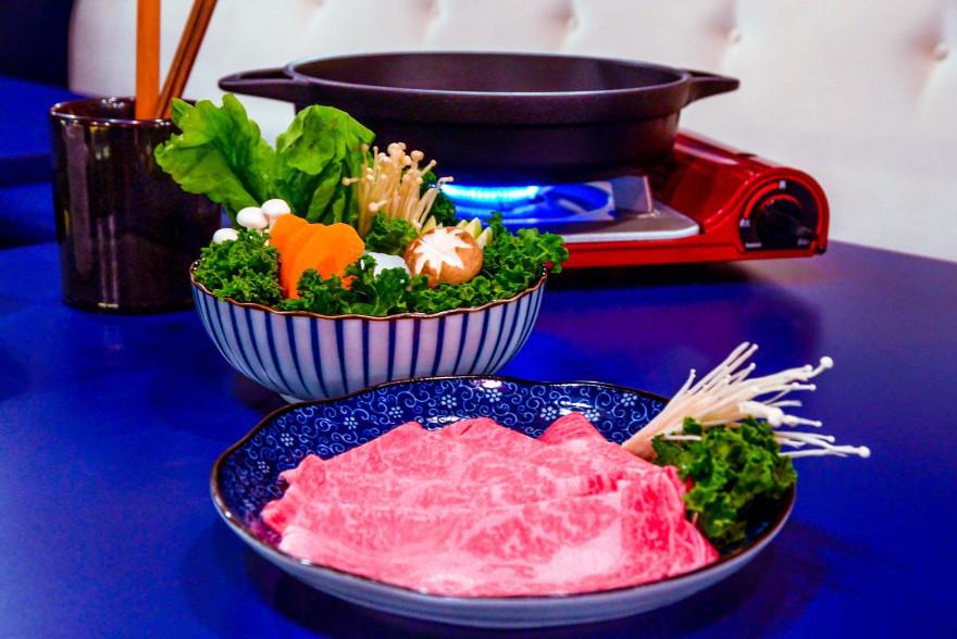Carne de Kobe en mesa