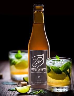 Two lemonade glasses, fresh drink with lemon slice, ice cubes on