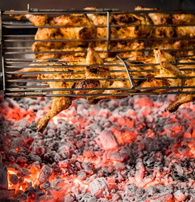 Pollos haciéndose al carbón, KIP
