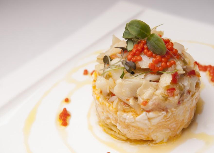 Revuelto de bacalao con patata paja, Goizeko Kabi