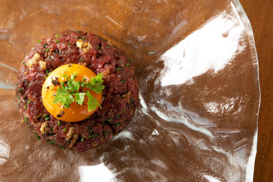 Steak Tartar De Vacuno, Marinado En Soja Jengibre Cormorán By Sergi Arola
