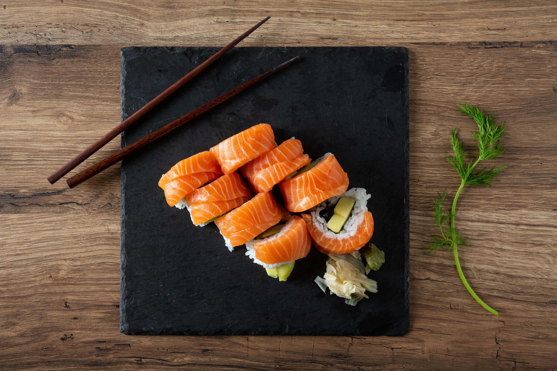 Receta Salmón Noruego. Sushi