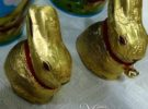 Pascua Lindt Gold Bunny excelente chocolate y alegre diversión