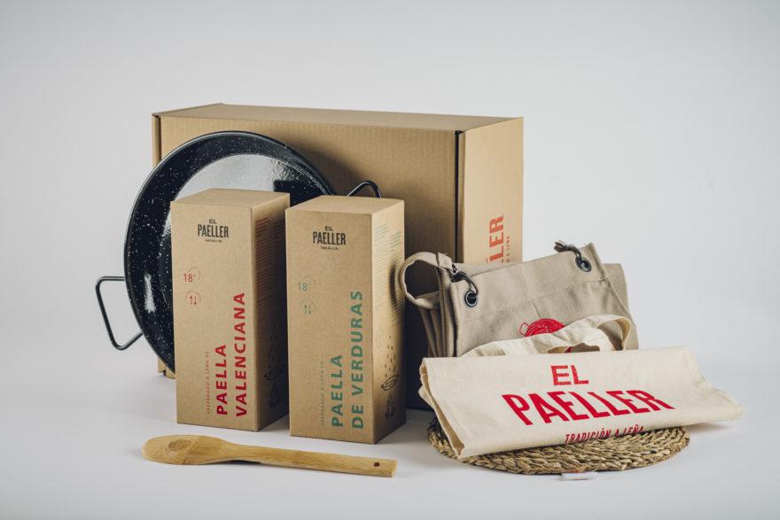 Kit Prime Paella Pack Valencia + Pack Verduras+ Delantal + Salvamanteles + Cuchara +esmaltada + Funda + Caja