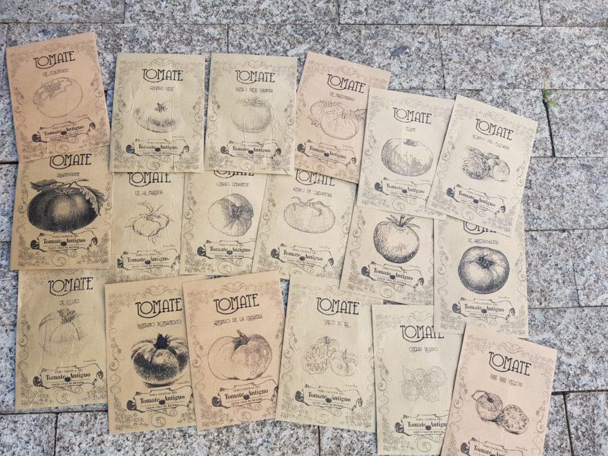 Semillas Que Se Repartieron Entre Los Asisntentes Con El Fin De Recuperar Variedades Antiguias En Los Huertos, Iii Feria Nacional Del Tomate Antiguo De Bezana